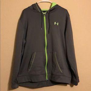 UA lime green hoodie